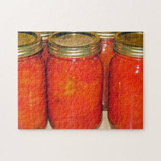 Cosecha de la caída - tomates conservados puzzles con fotos
