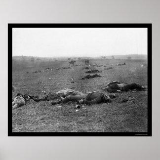 Cosecha de la muerte en Gettysburg, PA 1863 Posters