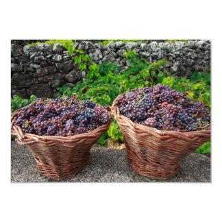 """Cosecha de la uva invitación 5"""" x 7"""""""