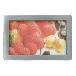 Cosecha de las frutas del verano hebilla de cinturon rectangular