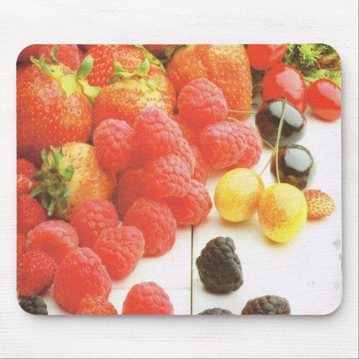 Cosecha de las frutas del verano alfombrillas de raton