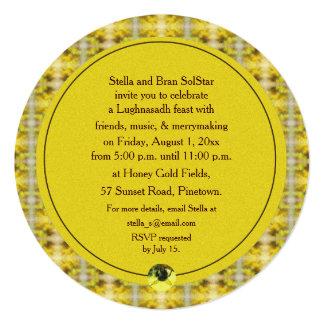 """Cosecha de Lughnasadh Lammas de la abeja y de la Invitación 5.25"""" X 5.25"""""""