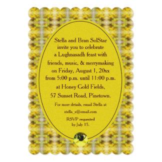 """Cosecha de Lughnasadh Lammas de la abeja y de la Invitación 5"""" X 7"""""""