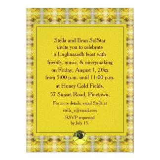 """Cosecha de Lughnasadh Lammas de la abeja y de la Invitación 6.5"""" X 8.75"""""""