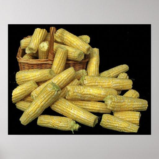 Cosecha de maíz póster