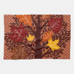 Cosecha de noviembre del árbol de las hojas de oto toallas de mano