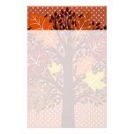 Cosecha de noviembre del árbol de las hojas de oto papelería