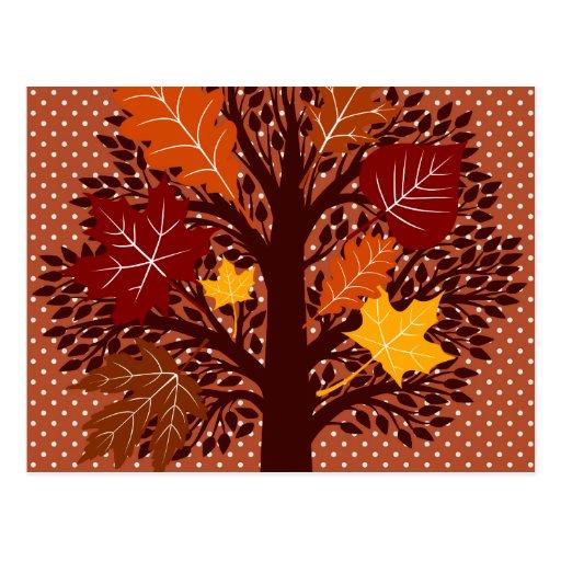 Cosecha de noviembre del árbol de las hojas de oto postales