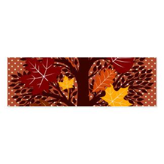 Cosecha de noviembre del árbol de las hojas de oto tarjetas de visita mini