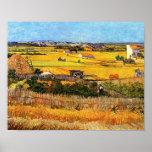Cosecha de Van Gogh en el poster de Crau del La