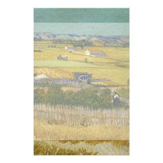 Cosecha de Vincent van Gogh Tarjetas Publicitarias
