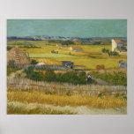 Cosecha de Vincent van Gogh Póster