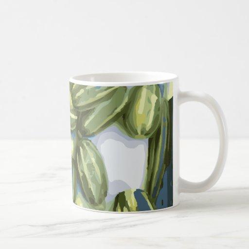 Cosecha del calabacín y de la calabaza de invierno tazas