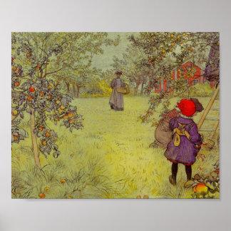 Cosecha del manzanar impresiones