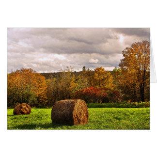 Cosecha del otoño tarjeta de felicitación