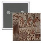 Cosecha del papiro y de un grupo de vacas pin cuadrado