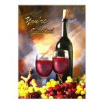 Cosecha del vino le invitan invitación 12,7 x 17,8 cm