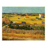 Cosecha en el La Crau (Van Gogh) Impresiones
