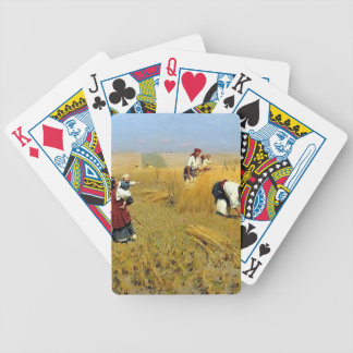 Cosecha que recolecta en Ucrania de Mykola Pymonen Baraja Cartas De Poker