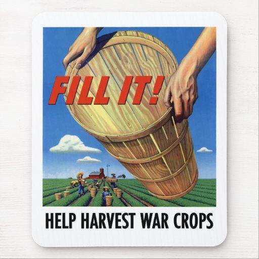 Cosechas de la guerra de la cosecha de la ayuda alfombrilla de ratón