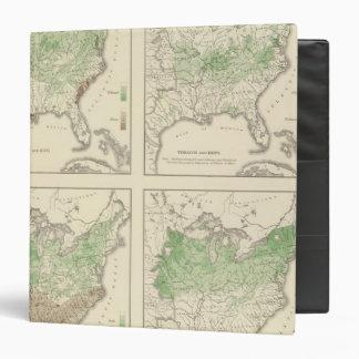 Cosechas, litografía estadística de los E.E.U.U.