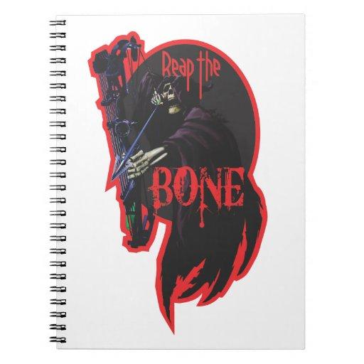 Coseche el cuaderno del hueso