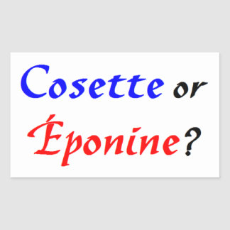Cosette Les Miserables Rectangular Sticker