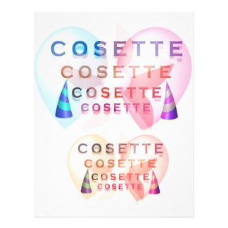 COSETTE , the little one Letterhead