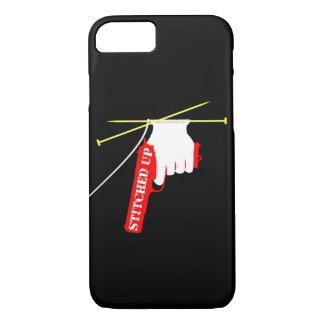 Cosido encima de la pistola que hace punto funda iPhone 7
