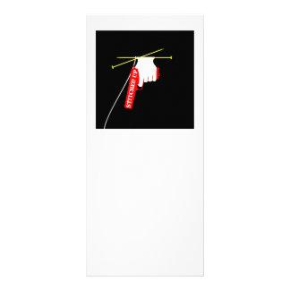 Cosido encima de la pistola que hace punto tarjeta publicitaria