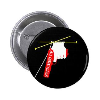 Cosido encima del arma hecho punto pin redondo de 2 pulgadas