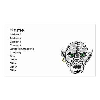 cosido encima del cráneo del espíritu necrófago tarjetas de visita
