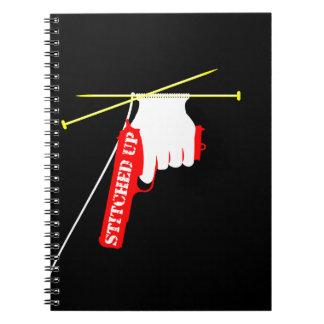 Cosido para arriba spiral notebook
