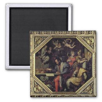 Cosimo I de' Medici (1519-74) planning the conques 2 Inch Square Magnet