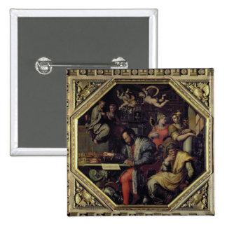 Cosimo I de' Medici (1519-74) planning the conques Pinback Button