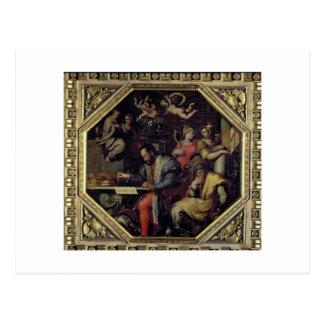 Cosimo I de' Medici (1519-74) planning the conques Postcard