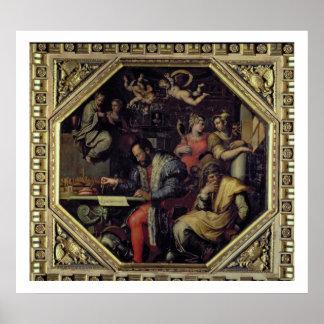 Cosimo I de' Medici (1519-74) planning the conques Poster