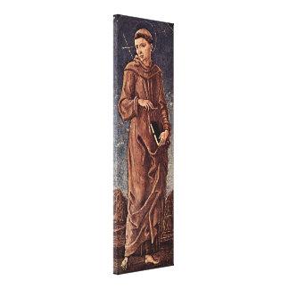 Cosimo Tura - St Francis of Assisi Canvas Print
