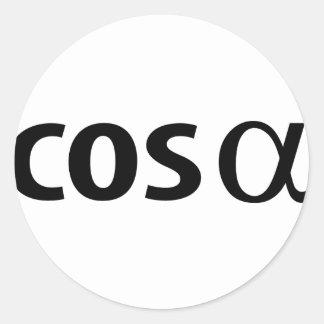 cosinus alpha classic round sticker