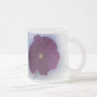 Cosmea Frosted Glass Coffee Mug