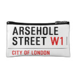 Arsehole Street  Cosmetic Bag