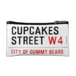 cupcakes Street  Cosmetic Bag