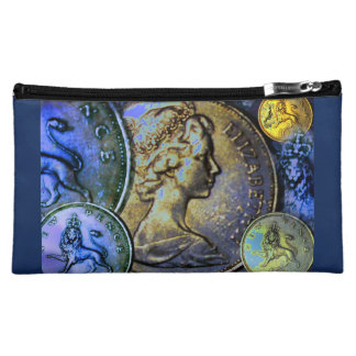Cosmetic Bag: Coinscape Great Britain 10 New Pence Makeup Bag