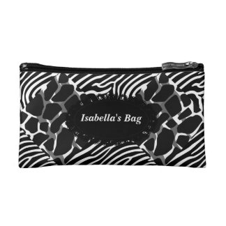 Cosmetic Bag Colorful Animal Collage