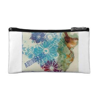 Cosmetic bag handpainted design