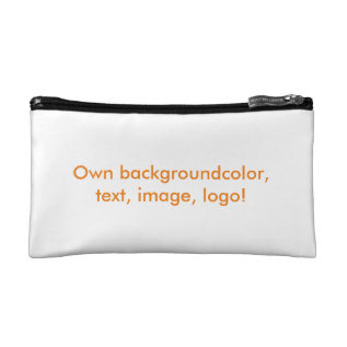 Cosmetic Bag In Own Color - Uni White at Zazzle