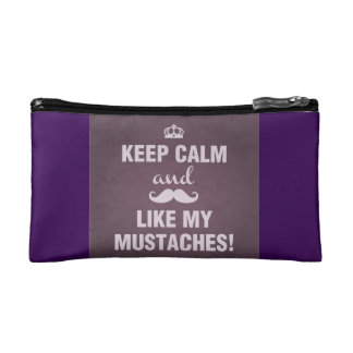 Cosmetic Bag Keep Calm and like my mustaches