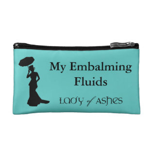 Cosmetic Bag, Lady Of Ashes - Embalming Fluid Cosmetic Bag at Zazzle