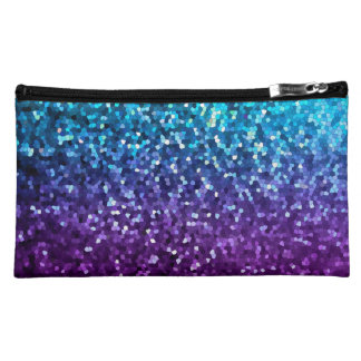 Cosmetic Bag Mosaic Sparkley Texture