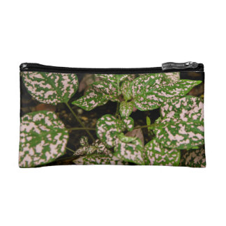 Cosmetic Bag - Pink Polka Dot Plant